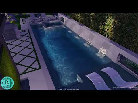 Frisco - Lawler Park clean and classic pool design