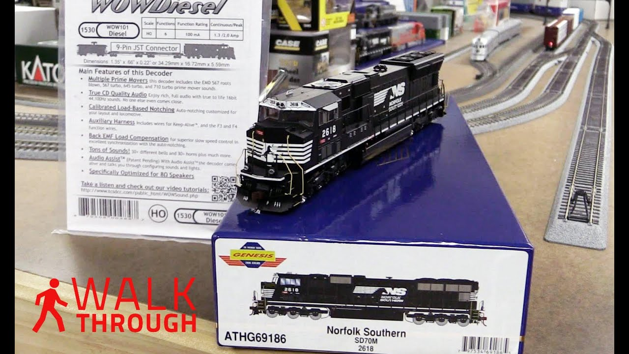 hight resolution of tcs wowsound installation athearn genesis sd70m norfolk southern demo