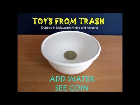ADD WATER SEE COIN -  ENGLISH - Refraction of light!