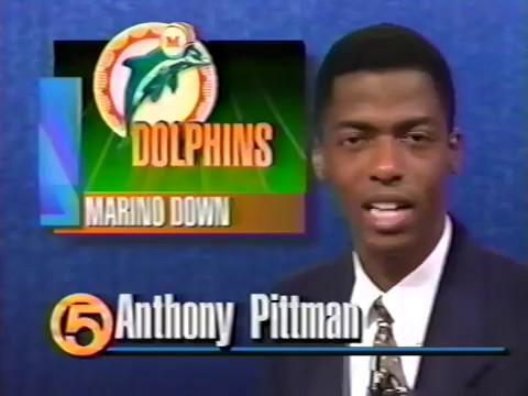 1995 Wk 06 Postgame - Dan Marino Injury Situation; Bernie Kosar at QB