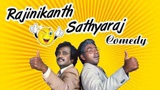 Rajinikanth And Sathyaraj Comedy | Mr Bharath Tamil Full Movie Comedy Scenes | Goundamani | Ambika