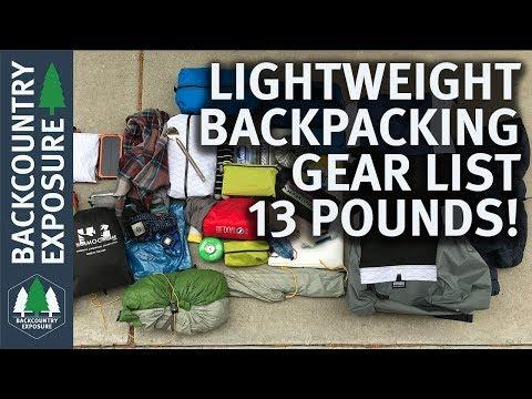 Lightweight 5 day Backpacking Gear List | 13 Pound Gear List