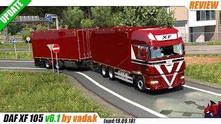 "[""Euro Truck Simulator 2"", ""truck mod"", ""DAF XF 105 v6.1"", ""by vad&k""]"