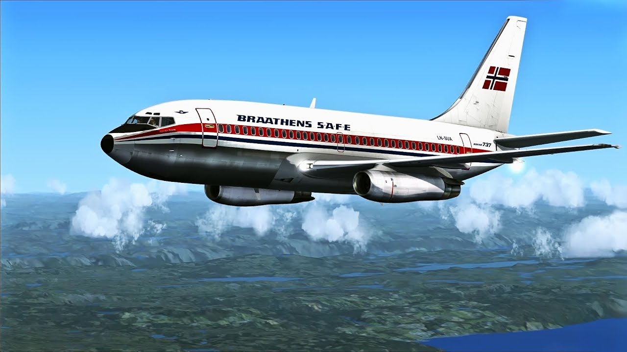 FSX-SE - MilViz Boeing 737-200 short flight