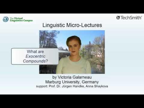 Exocentric Compounds ☆ Linguistics Lecture