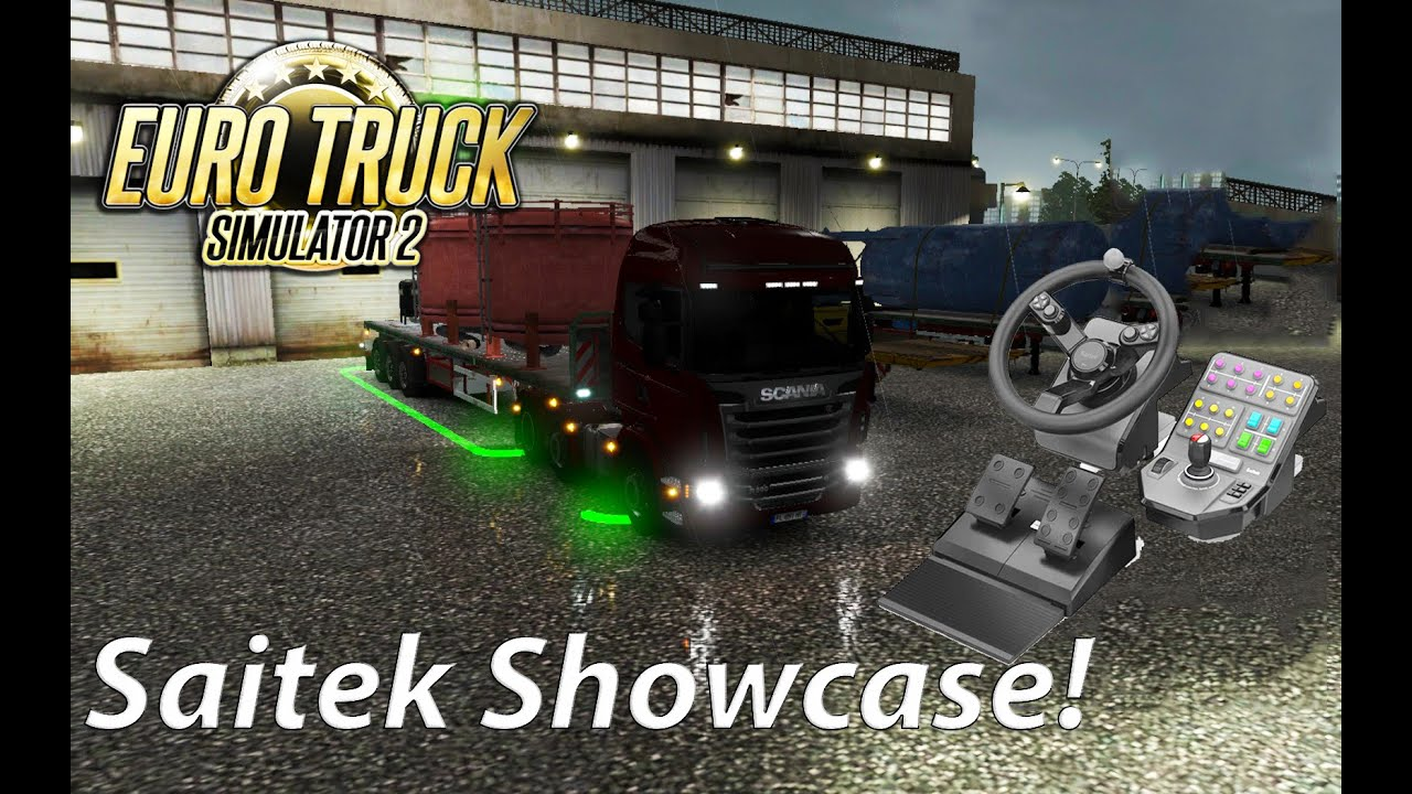 d3ec2d412bf Let's Play Euro Truck Simulator 2 with the Saitek Wheel! - YouTube