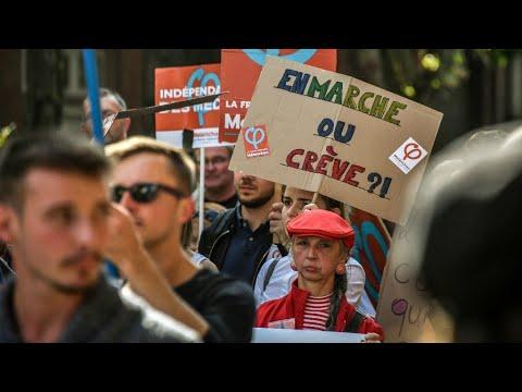 نحو 223 ألف شخص شاركوا في مظاهرات ضد قانون العمل بفرنسا حسب الحكومة  - 12:22-2017 / 9 / 13