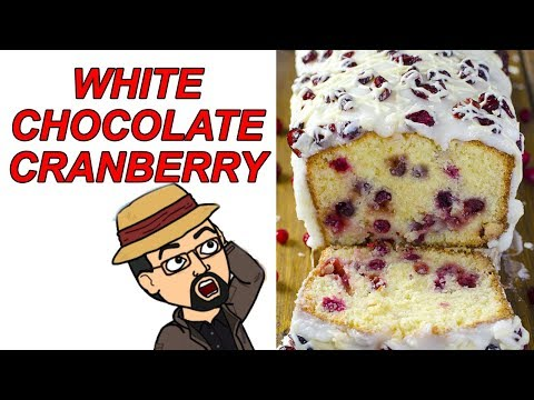 White Chocolate Cranberry Pound Cake