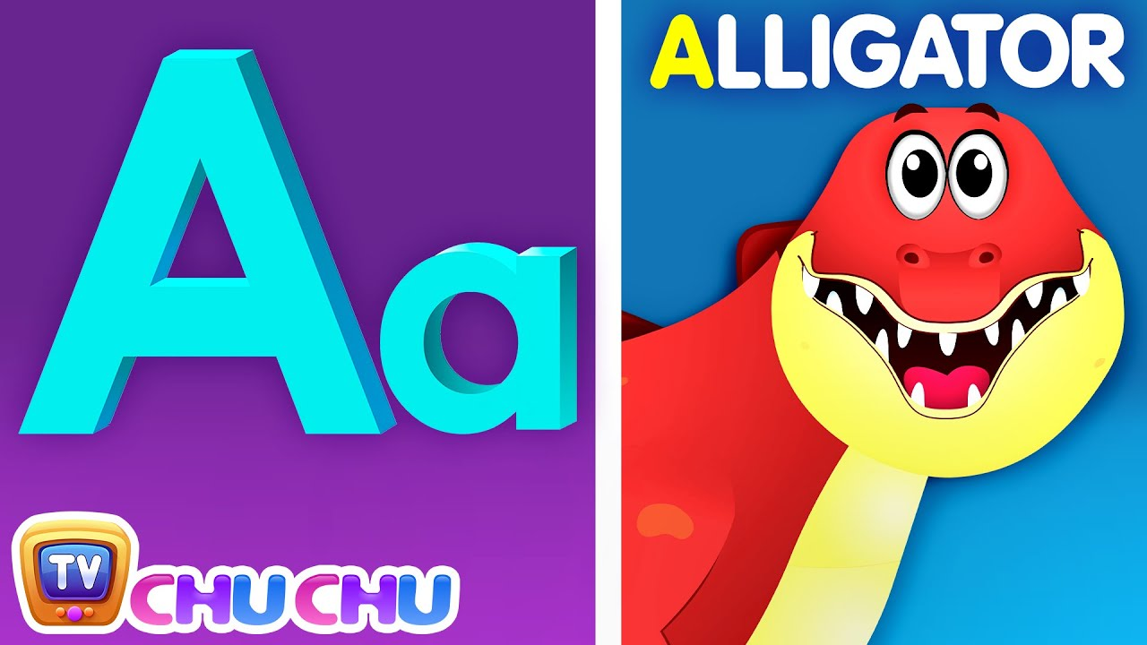 Phonics Song 3 with TWO Words - A for Alligator - ABC Alphabet Songs with Sounds for Children