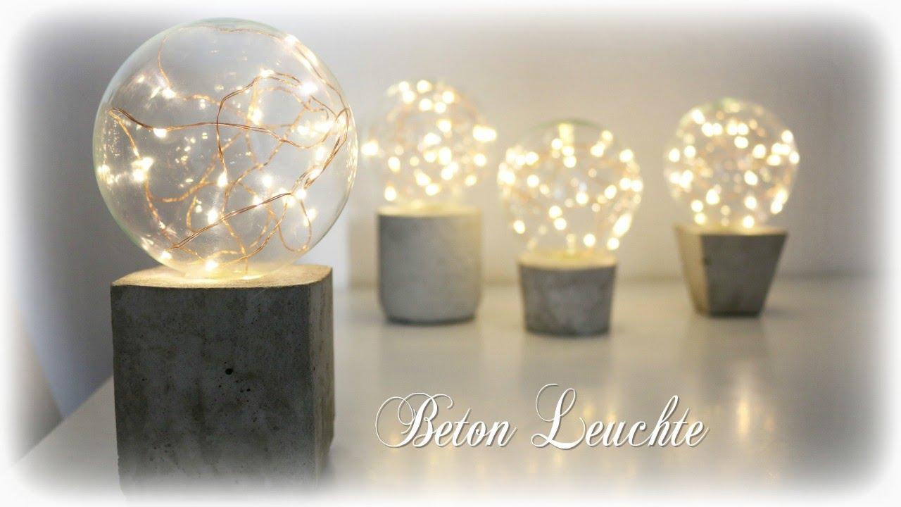 Beton Leuchte Mit Led Lichterkette Diy Concrete Lamp Eng Sub