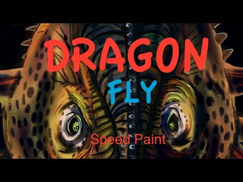 Dragon Fly – Dragon. Ecamm & Rebelle 3 – time lapse digital art.