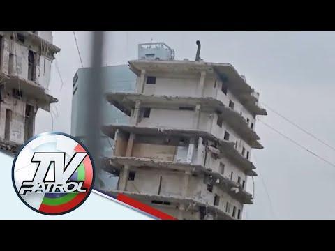 Pagkukulang ng contractor sinisilip sa pagguho ng gusali sa Maynila | TV Patrol