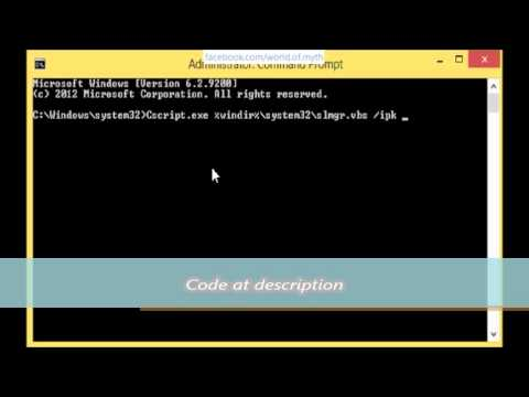 how to change product key in cmd