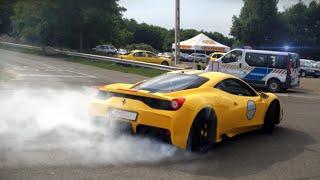 CRAZY Ferrari 458 Speciale -DRIFT, TEASING POLICE +Crashed, Brutal Sound