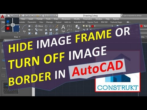 Hide Image Frame or Turn Off Image Border in AutoCAD - Remove Boundaries
