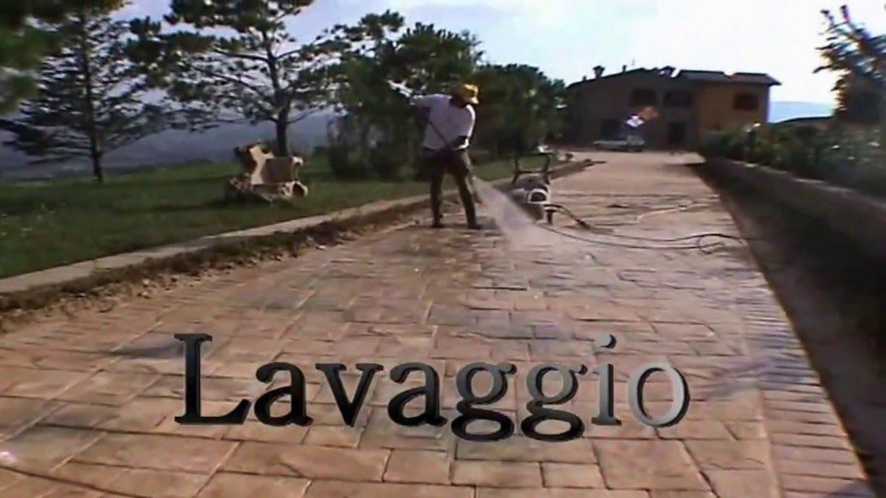 Pavimento Calcestruzzo Stampato : Design systems pavimenti in cemento stampato youtube