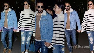 Pregnant Deepika Padukone blushing so much with Ranveer Singh returning from London