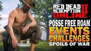 Posse Free Roam, Challenges, Events & More! Red Dead Redemption 2 Online Update Gameplay