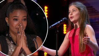 Emanne Beasha: 10 Year Old Opera Singer Leaves Simon Cowell In Awe!😱 | America's Got Talent 2019