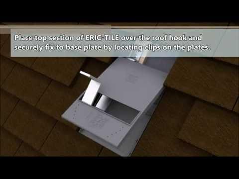Solar Slate Plate  ERIC-TILE  roof hook / bracket for plain / rosemary tiled roofs.