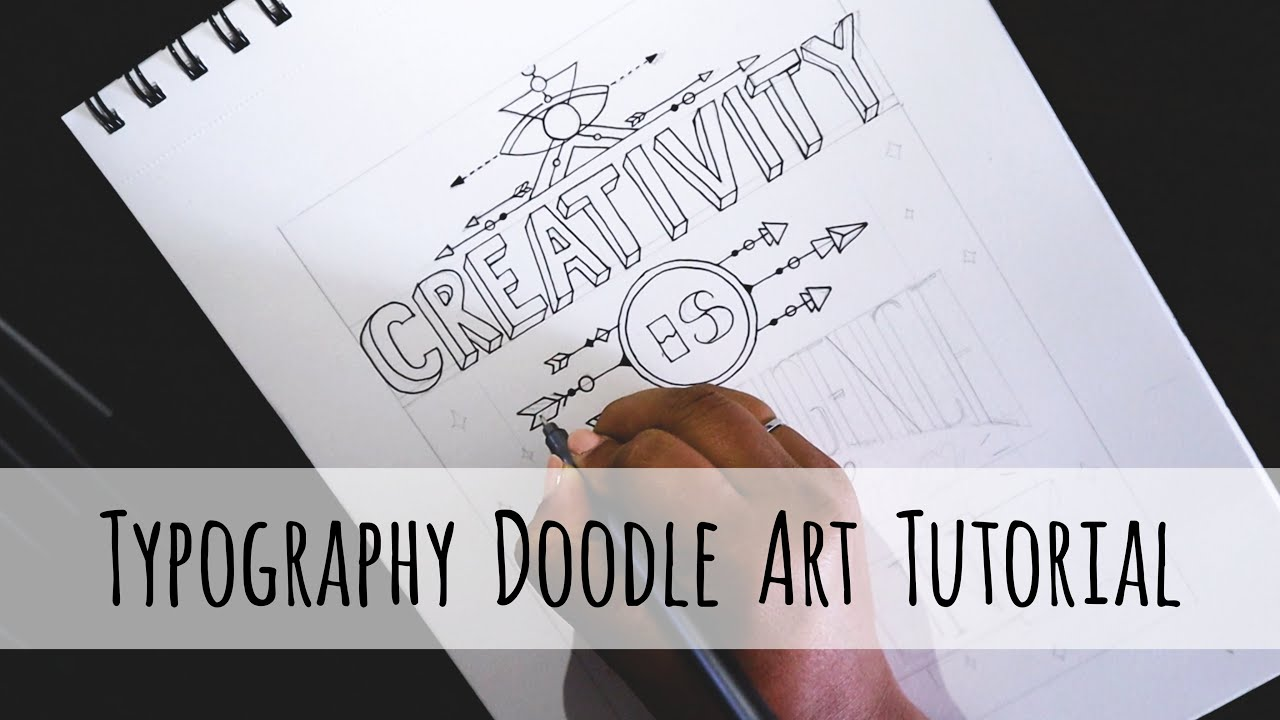 ODDLY SATISFYING ART VIDEO - EP : 01 - Typography Doodle Art Tutorial.