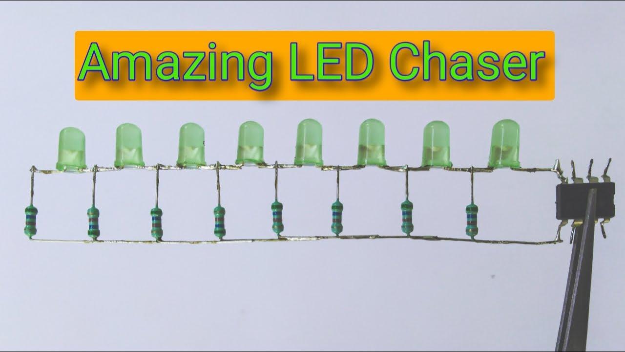Lighting Up and Down LED chaser, Running LED chaser ...
