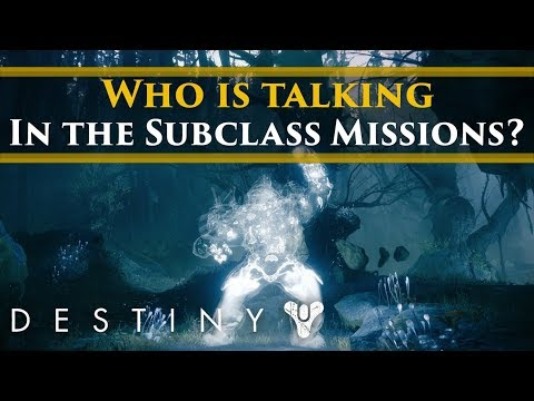 Destiny 2 Lore - Who are the guardians talking in the Subclass Missions?