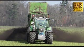 Kompost, Mist, Gärsubstrat laden / streuen / Case 230 / Fendt / Bergmann TSW 5210 Landwirtschaft