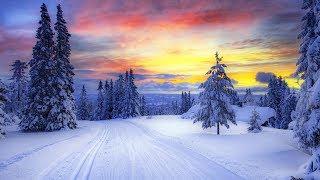 ✔ Зима, снег. Красивое видео для медитации и релаксации. Музыка для души. Гармония и отдых
