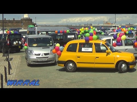 Liverpool Taxicab Trade Blind Childrens Fund Taxi ride to New Brighton with Kevs Cabs
