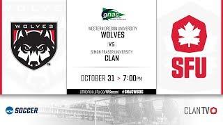 SFU Women's Soccer vs WOU - October 31, 2019