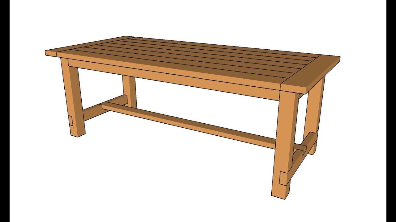 How To Build A Farmhouse Table Youtube