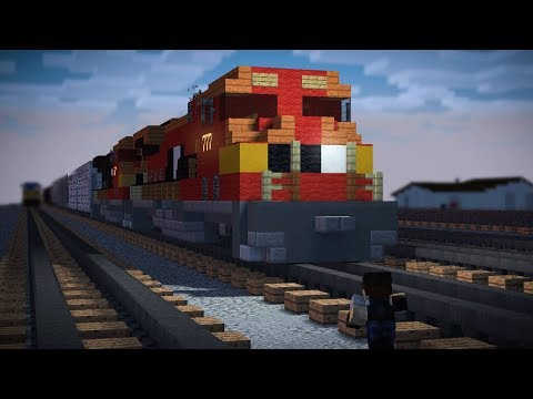 Minecraft Unstoppable Train Animation The Movie