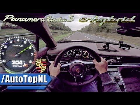 680HP Porsche Panamera Turbo S E Hybrid AUTOBAHN POV By AutoTopNL