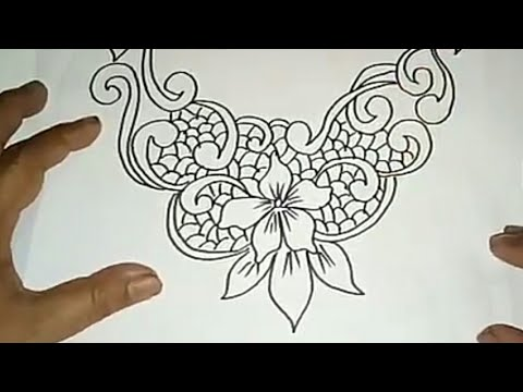 Sketsa Motif Batik Kontemporer 16 Youtube