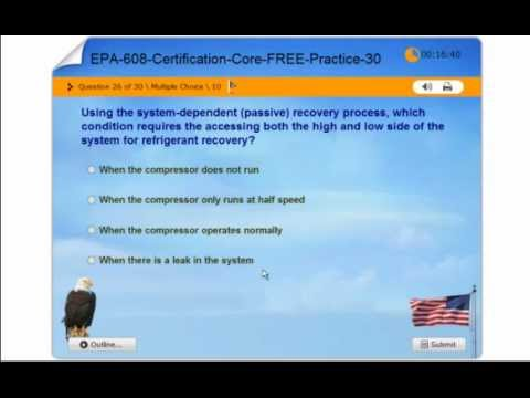 EPA 608 Certification - Core Exam - FREE Practice Test - YouTube
