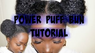 PIG TAIL BUNS(Space buns,2 buns,Puff Ball) Tutorial on Natural Har|Razorempress