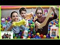 Ball Pit Party SLIME Challenge! / That YouTub3 Family