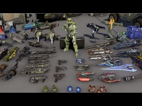 Halo 5 - All Weapons and REQ Variants - Reloads, Idle Animations and Sounds