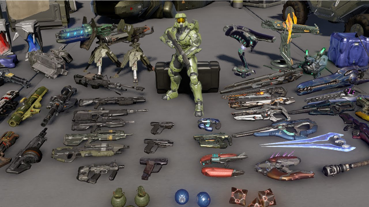 halo 5 all weapons and req variants reloads idle animations and