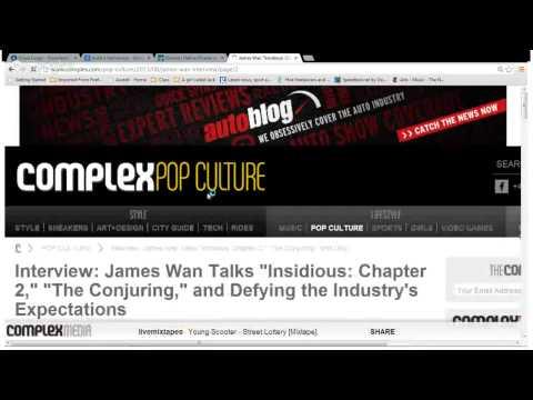 JAMES WAN INTERVIEW - TRANSCENDING THE SAW STIGMA.
