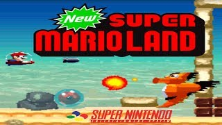 NEW Super Mario Land (NEW スーパーマリオラ) (SNES Homebrew) - SNES LONGPLAY - (Complete Walkthrough)