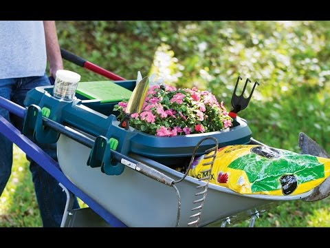 Make your wheelbarrow an organized double decker.