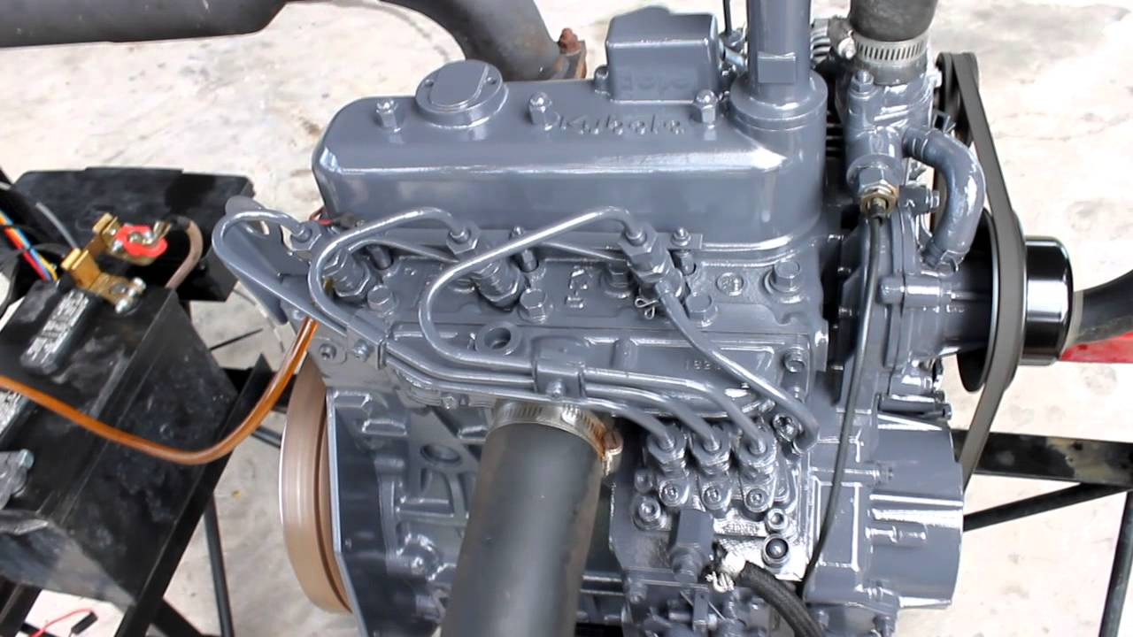 kubota d1105 diesel engine video 005  YouTube