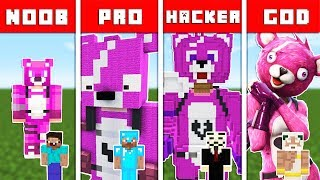 Minecraft - NOOB vs PRO vs HACKER vs GOD : FORTNITE BATTLE ROYALE CHALLENGE in Minecraft Animation