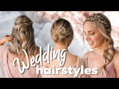 Wedding Hairstyles + Easy Tutorial for Short and Long Hair - Kayley Melissa thumbnail