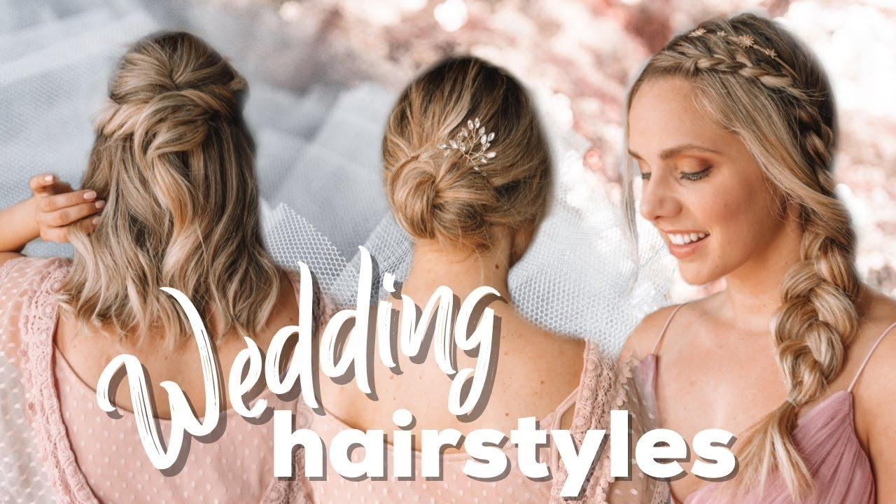 Wedding Hairstyles Easy Tutorial For Short And Long Hair Kayley Melissa