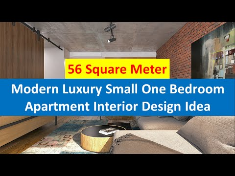 Modern Luxury Small One Bedroom Apartment Interior Design
