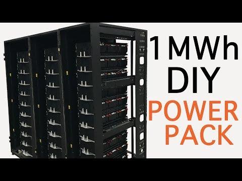 1 Mega Watt TESLA style DIY POWERPACK -  1MWH
