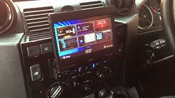 Land Rover Defender NZ502E- Sat Nav Flip Out Clarion Single Din Fitting- Car Audio Centre Nottingham